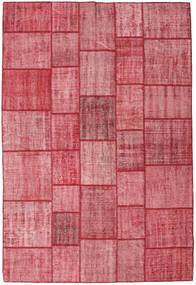 Patchwork Tapete 205X305 Moderno Feito A Mão Rosa/Castanho Alaranjado (Lã, Turquia)