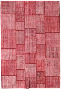 Patchwork Tapete 205X300 Moderno Feito A Mão Castanho Alaranjado/Rosa (Lã, Turquia)