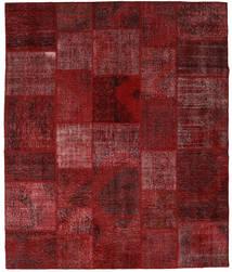 Patchwork Tapete 250X296 Moderno Feito A Mão Vermelho Escuro Grande (Lã, Turquia)