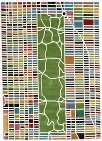 New-York/Manhattan Handtufted - Multi Tapete 160X230 Moderno Bege/Verde Escuro (Lã, Índia)