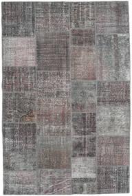 Patchwork Tapete 197X300 Moderno Feito A Mão Cinzento Claro/Cinza Escuro (Lã, Turquia)