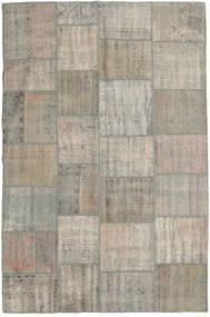 Patchwork Tapete 198X305 Moderno Feito A Mão Cinzento Claro (Lã, Turquia)
