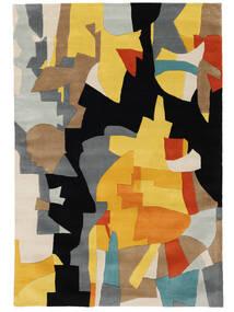 Rasmus Tapete 160X230 Moderno Preto/Castanho Claro (Lã, Índia)