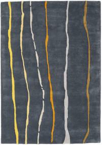 Flaws Handtufted - Cinzento Tapete 140X200 Moderno Cinza Escuro/Azul Escuro (Lã, Índia)