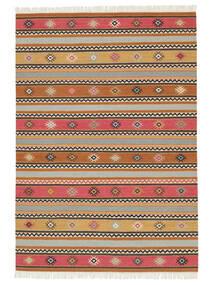 Kilim - Nezzim - Nezzim Tapete 170X240 Moderno Tecidos À Mão Castanho Claro/Cinzento Claro ( Índia)