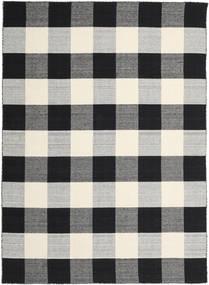 Check Kilim - Preto/Branco Tapete 240X340 Moderno Tecidos À Mão Preto/Cinzento Claro/Cinza Escuro (Lã, Índia)
