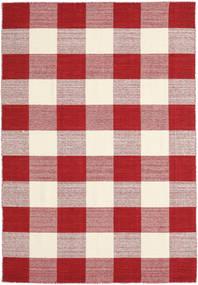 Check Kilim - Vermelho/Branco Tapete 160X230 Moderno Tecidos À Mão Vermelho/Bege/Luz Rosa (Lã, Índia)