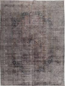 Colored Vintage Tapete 290X380 Moderno Feito A Mão Cinza Escuro/Castanho Escuro Grande (Lã, Paquistão)