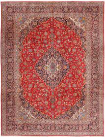 Kashan Tapete 315X420 Oriental Feito A Mão Vermelho Escuro/Castanho Alaranjado Grande (Lã, Pérsia/Irão)