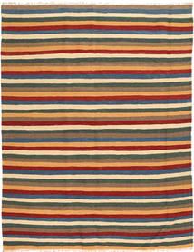 Kilim Tapete 162X213 Oriental Tecidos À Mão Castanho Claro/Verde Escuro (Lã, Pérsia/Irão)