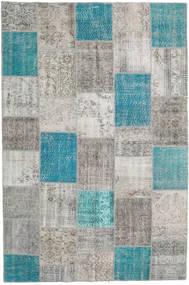 Patchwork Tapete 200X300 Moderno Feito A Mão Cinzento Claro/Azul Turquesa (Lã, Turquia)