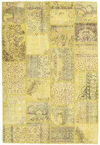 Patchwork Tapete 159X236 Moderno Feito A Mão Amarelo/Verde Azeitona (Lã, Turquia)