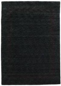 Handloom Gabba - Preto/Cinzento Tapete 160X230 Moderno Preto (Lã, Índia)