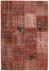 Patchwork Tapete 159X232 Moderno Feito A Mão Vermelho Escuro/Castanho Claro (Lã, Turquia)