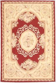 Aubouson Tapete 184X281 Oriental Feito A Mão Bege Escuro/Bege/Vermelho Escuro (Lã, China)