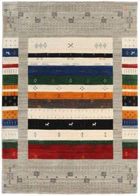 Loribaf Loom Designer Tapete 140X200 Moderno Cinzento Claro/Bege (Lã, Índia)