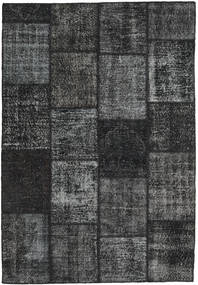 Patchwork Tapete 159X232 Moderno Feito A Mão Cinza Escuro/Verde Escuro (Lã, Turquia)