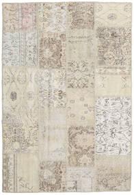 Patchwork Tapete 138X203 Moderno Feito A Mão Cinzento Claro/Bege Escuro (Lã, Turquia)