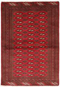 Turcomano Tapete 101X147 Oriental Feito A Mão Vermelho Escuro/Castanho Escuro/Vermelho (Lã, Pérsia/Irão)