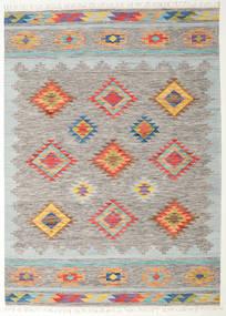 Spring Kilim Tapete 240X340 Moderno Tecidos À Mão Cinzento Claro/Bege Escuro (Lã, Índia)