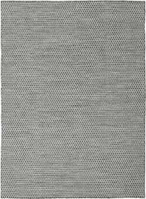 Kilim Honey Comb - Preto/Cinzento Tapete 210X290 Moderno Tecidos À Mão Cinzento Claro/Azul Turquesa (Lã, Índia)