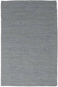 Kilim Honey Comb - Azul Tapete 120X180 Moderno Tecidos À Mão Azul/Cinza Escuro (Lã, Índia)