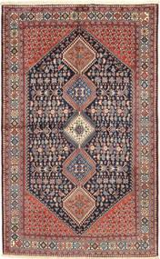 Yalameh Tapete 157X255 Oriental Feito A Mão Cinza Escuro/Vermelho Escuro (Lã, Pérsia/Irão)
