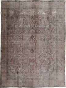 Colored Vintage Tapete 294X384 Moderno Feito A Mão Cinza Escuro/Castanho Escuro Grande (Lã, Paquistão)