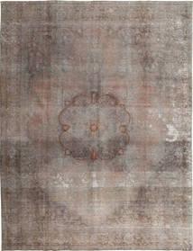 Colored Vintage Tapete 299X382 Moderno Feito A Mão Cinzento Claro/Castanho Escuro Grande (Lã, Paquistão)