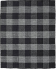 Check Kilim Tapete 190X240 Moderno Tecidos À Mão Cinza Escuro/Preto (Lã, Índia)