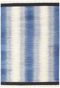 Ikat - Azul Tapete 160X230 Moderno Tecidos À Mão Azul/Bege (Lã, Índia)