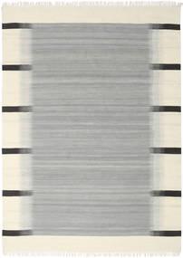 Ikat - Cinzento Tapete 210X290 Moderno Tecidos À Mão Azul Turquesa/Bege (Lã, Índia)