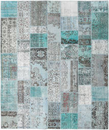 Patchwork Tapete 253X303 Moderno Feito A Mão Azul Claro/Cinzento Claro Grande (Lã, Turquia)