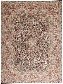 Kerman Tapete 290X387 Oriental Feito A Mão Cinzento Claro/Castanho Escuro Grande (Lã, Pérsia/Irão)