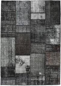 Patchwork Tapete 161X230 Moderno Feito A Mão Cinza Escuro (Lã, Turquia)