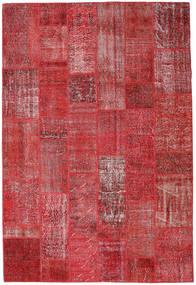 Patchwork Tapete 204X302 Moderno Feito A Mão Vermelho Escuro/Vermelho (Lã, Turquia)