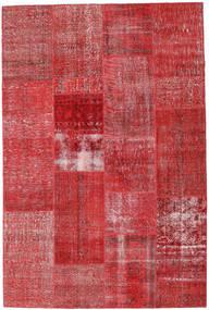 Patchwork Tapete 202X303 Moderno Feito A Mão Castanho Alaranjado/Vermelho Escuro (Lã, Turquia)