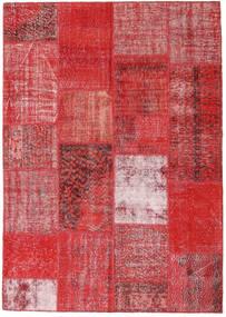 Patchwork Tapete 162X230 Moderno Feito A Mão Castanho Alaranjado/Vermelho Escuro/Vermelho (Lã, Turquia)
