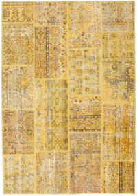 Patchwork Tapete 160X231 Moderno Feito A Mão Bege Escuro/Castanho Claro (Lã, Turquia)