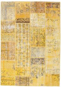 Patchwork Tapete 160X230 Moderno Feito A Mão Bege Escuro/Amarelo (Lã, Turquia)