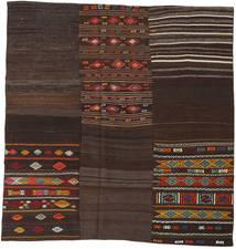 Kilim Patchwork Tapete 208X212 Moderno Tecidos À Mão Quadrado Castanho Escuro (Lã, Turquia)