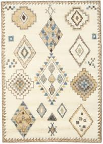 Berber Indo - Branco Pérola/Bege Tapete 160X230 Moderno Feito A Mão Bege/Castanho Claro (Lã, Índia)
