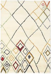 Berber Indo - Off-Branco/Multi Tapete 160X230 Moderno Feito A Mão Bege/Branco/Creme (Lã, Índia)