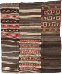Kilim Patchwork Tapete 210X248 Moderno Tecidos À Mão Castanho Escuro/Cinza Escuro (Lã, Turquia)
