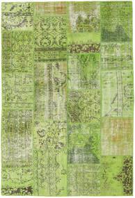 Patchwork Tapete 161X238 Moderno Feito A Mão Verde Claro/Verde Azeitona (Lã, Turquia)