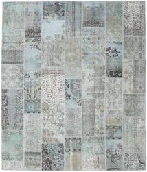 Patchwork Tapete 251X298 Moderno Feito A Mão Cinzento Claro/Azul Turquesa Grande (Lã, Turquia)