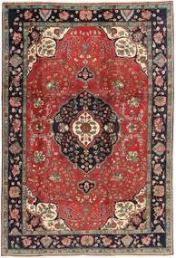 Tabriz Tapete 198X303 Oriental Feito A Mão Vermelho Escuro/Castanho Escuro (Lã, Pérsia/Irão)