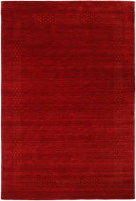 Loribaf Loom Beta - Vermelho Tapete 190X290 Moderno Vermelho Escuro/Castanho Alaranjado (Lã, Índia)