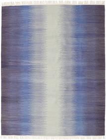 Ikat - Escuro Azul Tapete 190X240 Moderno Tecidos À Mão Cinzento Claro/Roxo (Lã, Índia)