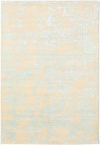 Orient Express - Branco/Azul Tapete 160X230 Moderno Feito A Mão Bege/Bege Escuro (Lã/Bamboo Seda, Índia)